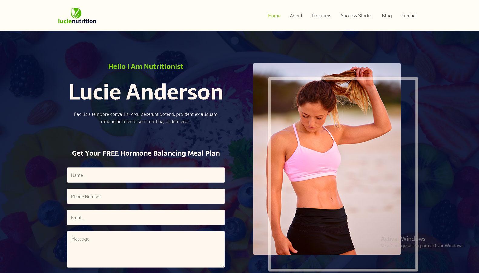 diseños-de-pagina-web-para-nutricionista